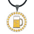 bling beer golf ball marker necklace