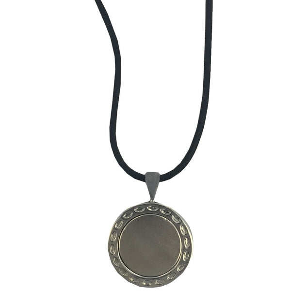 giggle golf ball marker necklace silver pendant