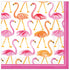 "pink flamingos cocktail napkins 5"" x 5"""