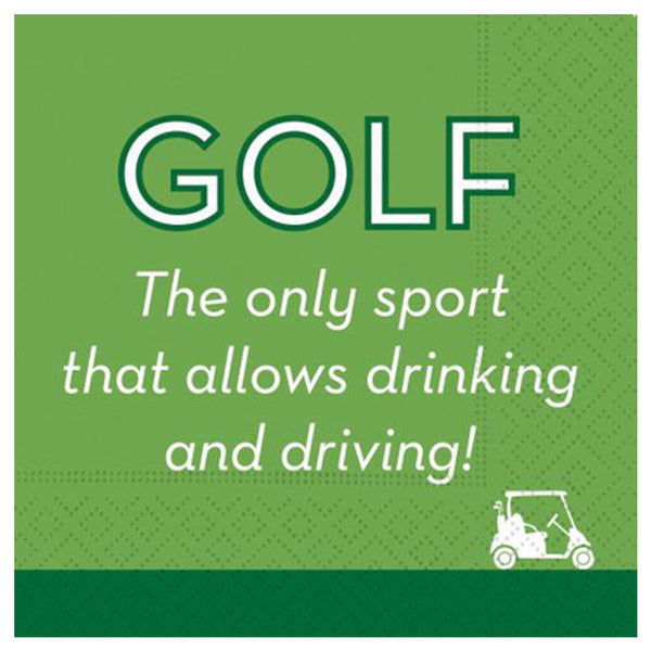golf the only sport that allows drinking and driving cocktail napkins