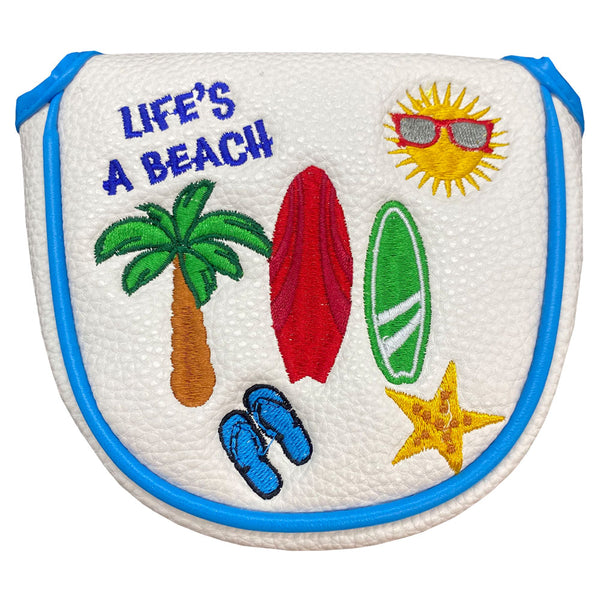 life's a beach mallet putter cover