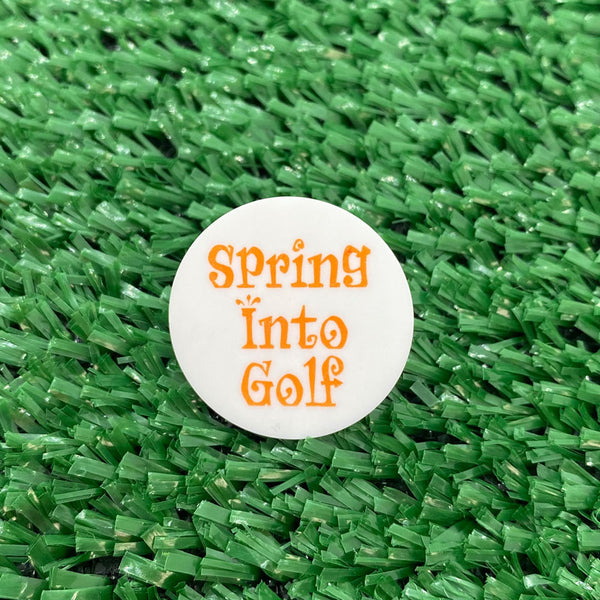 Spring Into Golf Quarter Size Plastic Golf Ball Marker