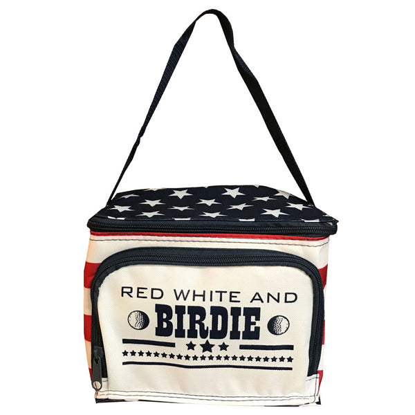red white and birdie golf cooler
