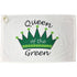 queen of the green cotton terry velour golf towel with grommet and hook