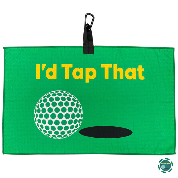i'd tap that green waffle golf towel with poker chip