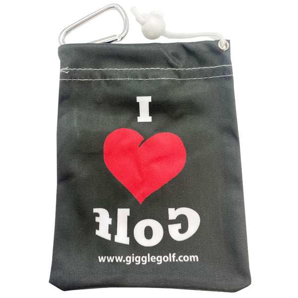 side two of the i love golf tee bag