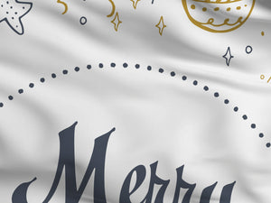 Merry Christmas Flag White
