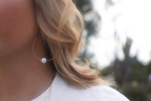 Mother of Pearl Hoops