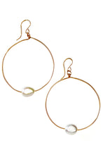Load image into Gallery viewer, Mother of Pearl Hoops