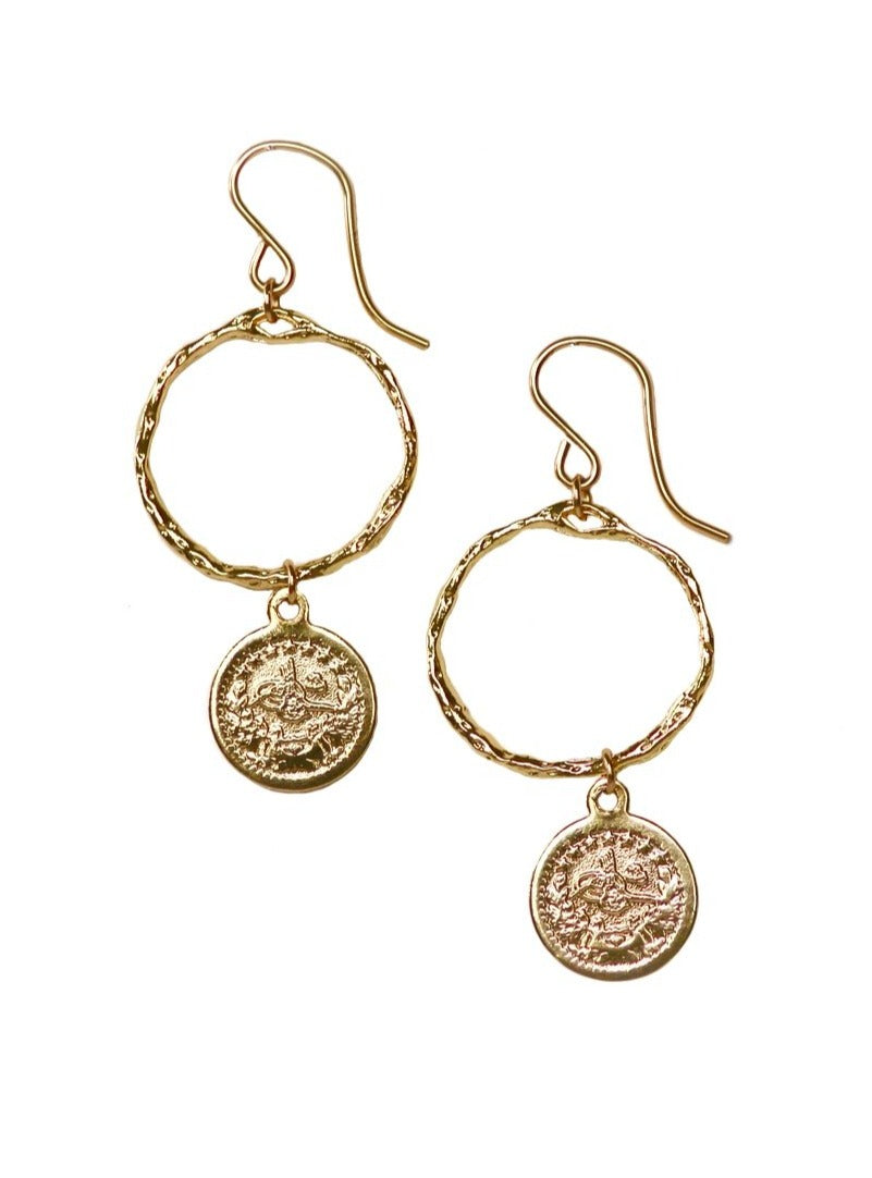 Queen Coin Earrings