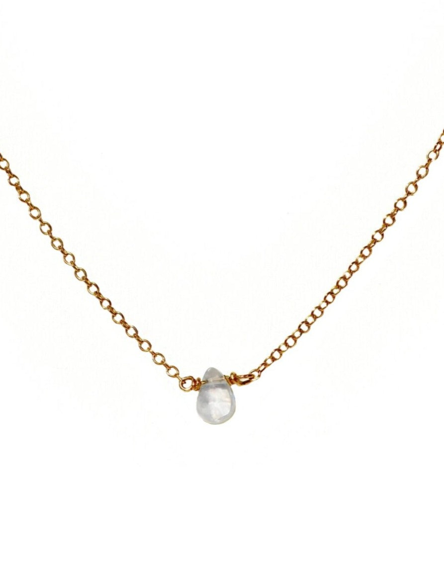 Teardrop Moonstone Lola Necklace
