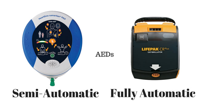 Semi-Automatic and Automatic AEDs: What's the Difference?