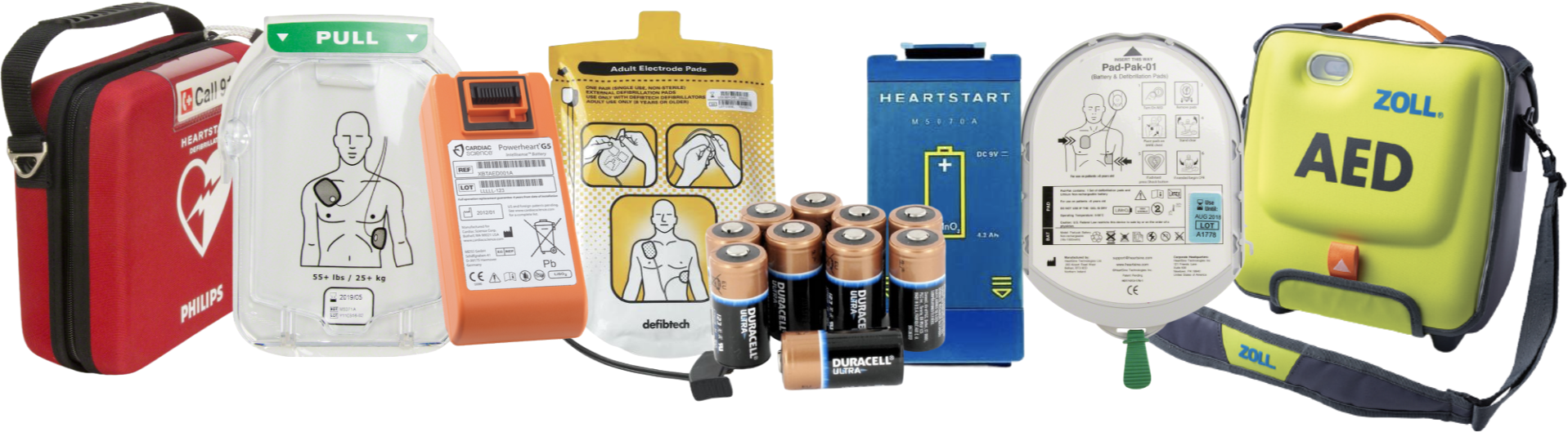 AED replacement electrode pads batteries for sale