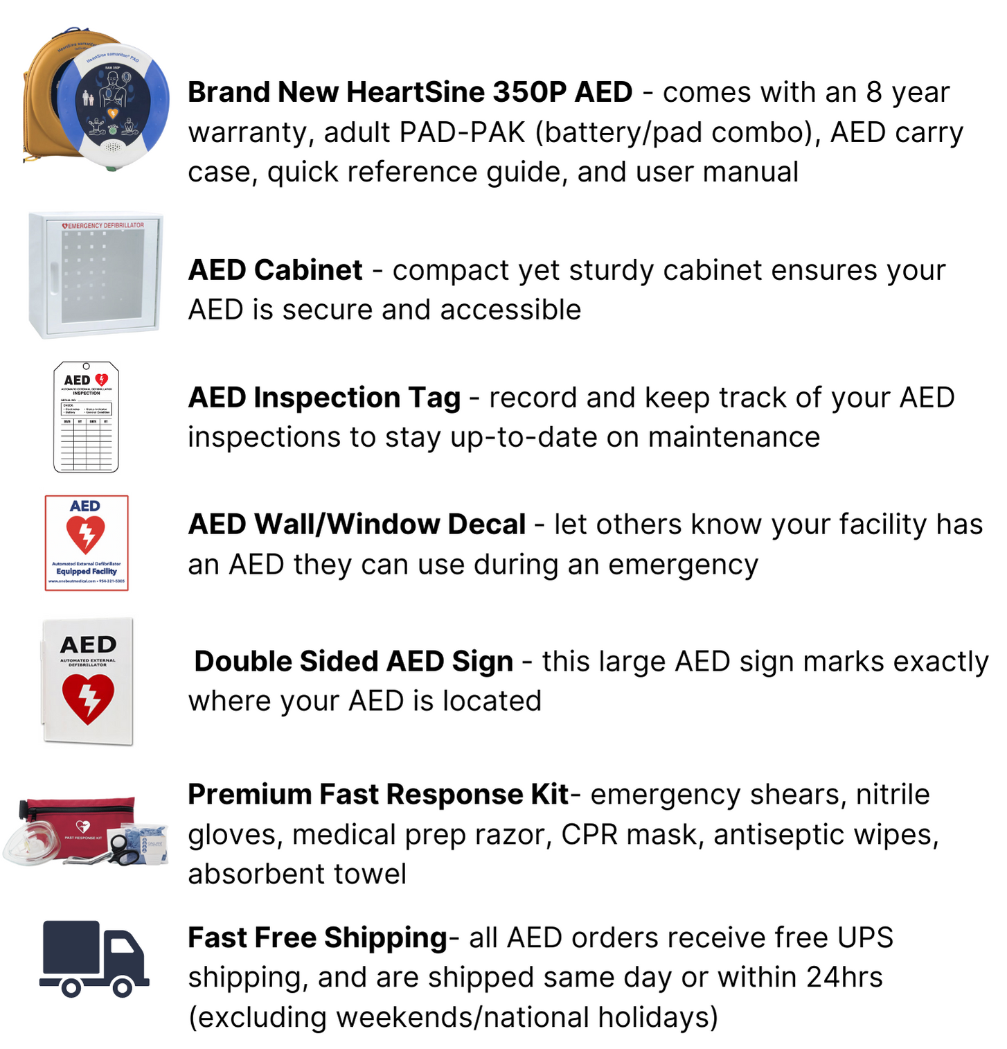 HeartSine 350P Complete AED Package