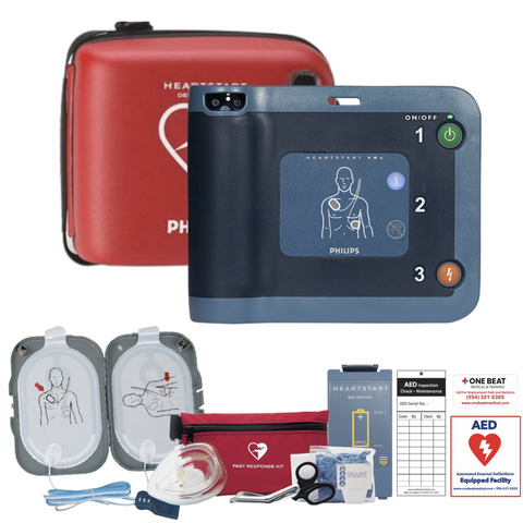 philips heartstart frx aed cabinet package