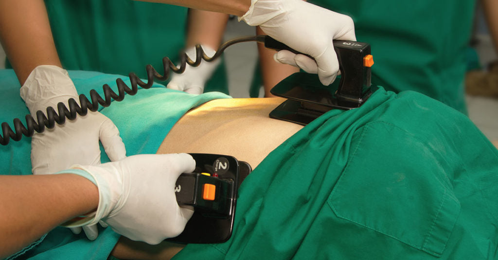 defibrillate person with pacemaker