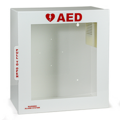 heartsine samaritan aed wall cabinet with alarm 11516-000024