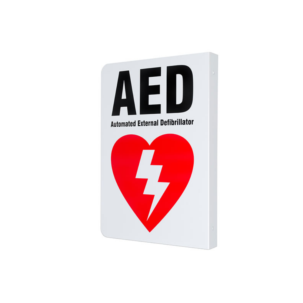 AED Two-way Wall Sign