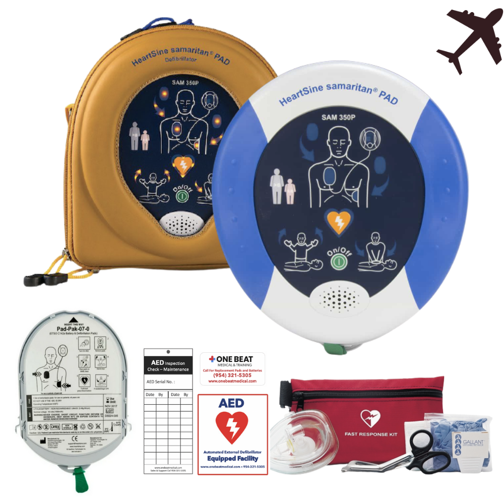 HeartSine Samaritan PAD 350P AED Aviation TSO 80514-000264