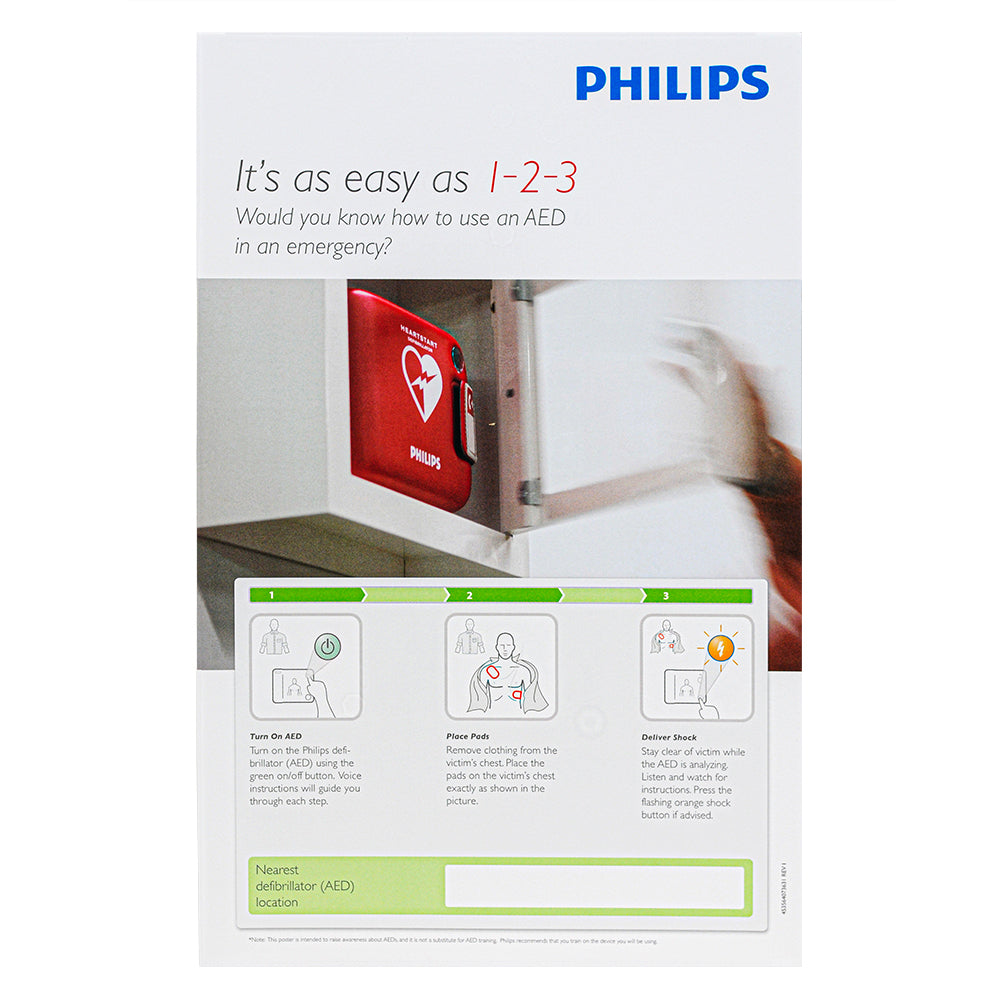 Philips AED Awareness Posters (4-Pack)(Opt. ABA English)