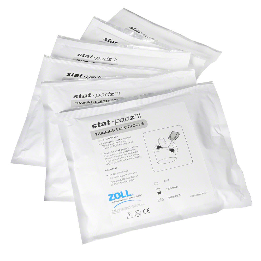 ZOLL Training Electrodes stat-pads II (pack of 6)