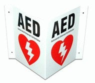 Defibtech AED Three-Way Wall Sign