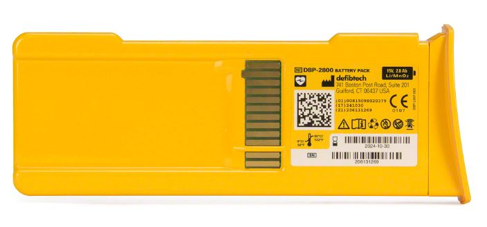 Defibtech High Capacity 7-Year Battery Pack, 9V Lithium Battery #DCF-210 (DDU-100 Series)