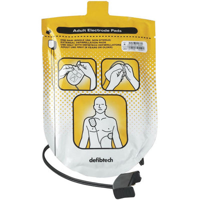 Defibtech Adult Pads for Lifeline AED & Auto #DDP-100 (DDU-100 Series)