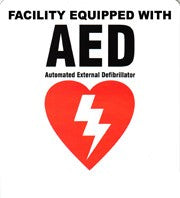 Defibtech AED Facility Decal