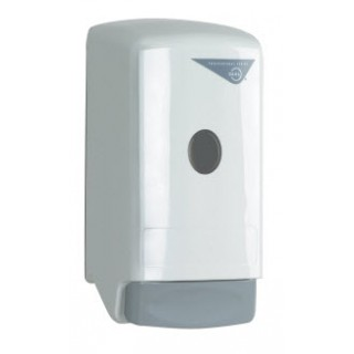 Dial Wall Mount Dispenser, White