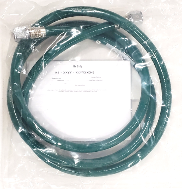Caretech Green Oxygen / O2 Hose w/2 DISS, 6ft (ea) LTV1200 and other ventilators