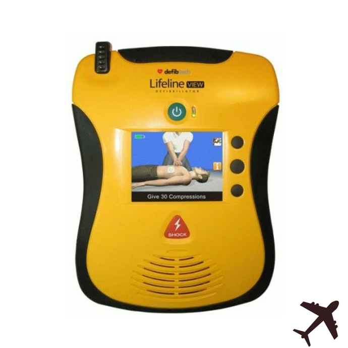 Defibtech LifeLine View AED, Aviation Package - NEW