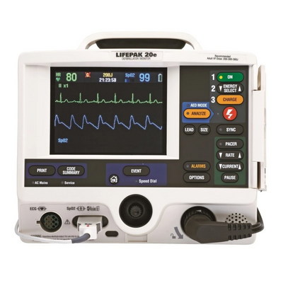 Physio-Control LIFEPAK 20E Refurbished - 3 Lead, AED, Pacing