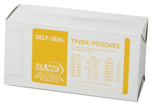 "SPSMedical 3.5"" x 5.25"" Tyvek Self-Seal Pouch (Gas, Plasma, EO gas, 2000/case)"