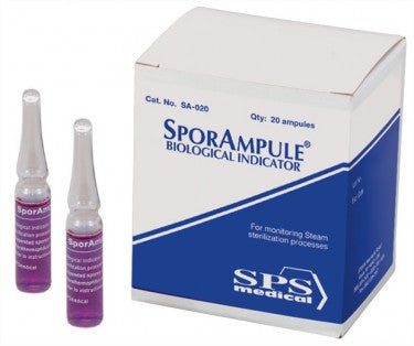 SPSMedical SporAmpule Steam Bio Indicator (20/box), REQUIRES SEPARATE SHIPPING