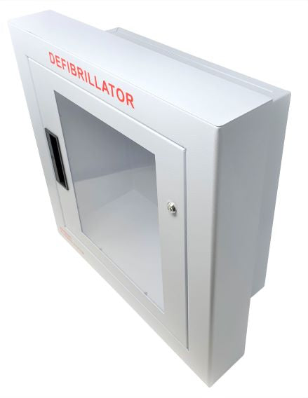 Semi Recessed Large Defibrillator Wall Cabinet With Window And Alarm