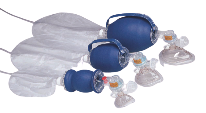 Allied Healthcare Latex Free Disposable Adult BVM with Cuffed Mask 6/case New