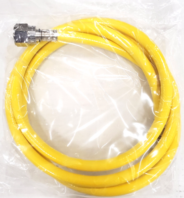 Caretech Air Hose w/2 DISS, Yellow, 6ft (ea) for LTV 1200 and other ventilators
