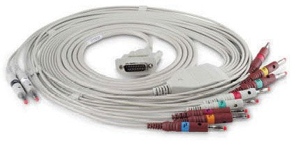 Edan ECG Cable (4mm, Banana Connector, AHA) SE-1200 Series, SE-1010 & SE-1515 ECGs