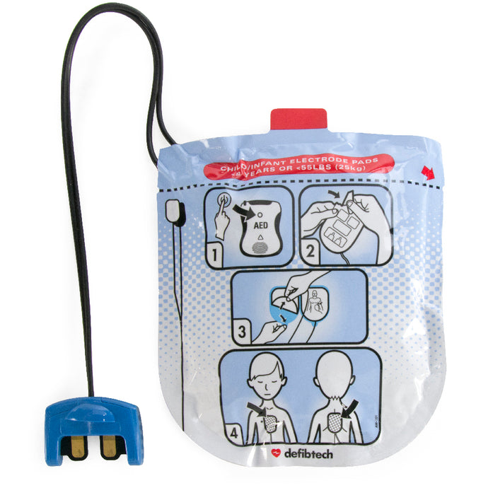 Defibtech Pediatric Pads for Lifeline VIEW, PRO & ECG AEDs #DDP-2002 (DDU-2000 Series)