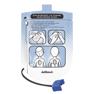 Defibtech Pediatric Pads for Lifeline AED #DDP-200P (DDU-100 Series)
