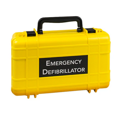 Defibtech Lifeline AED Deluxe Hard Carrying Case - Yellow