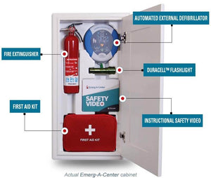 AED and First Aid Safety Cabinet Only