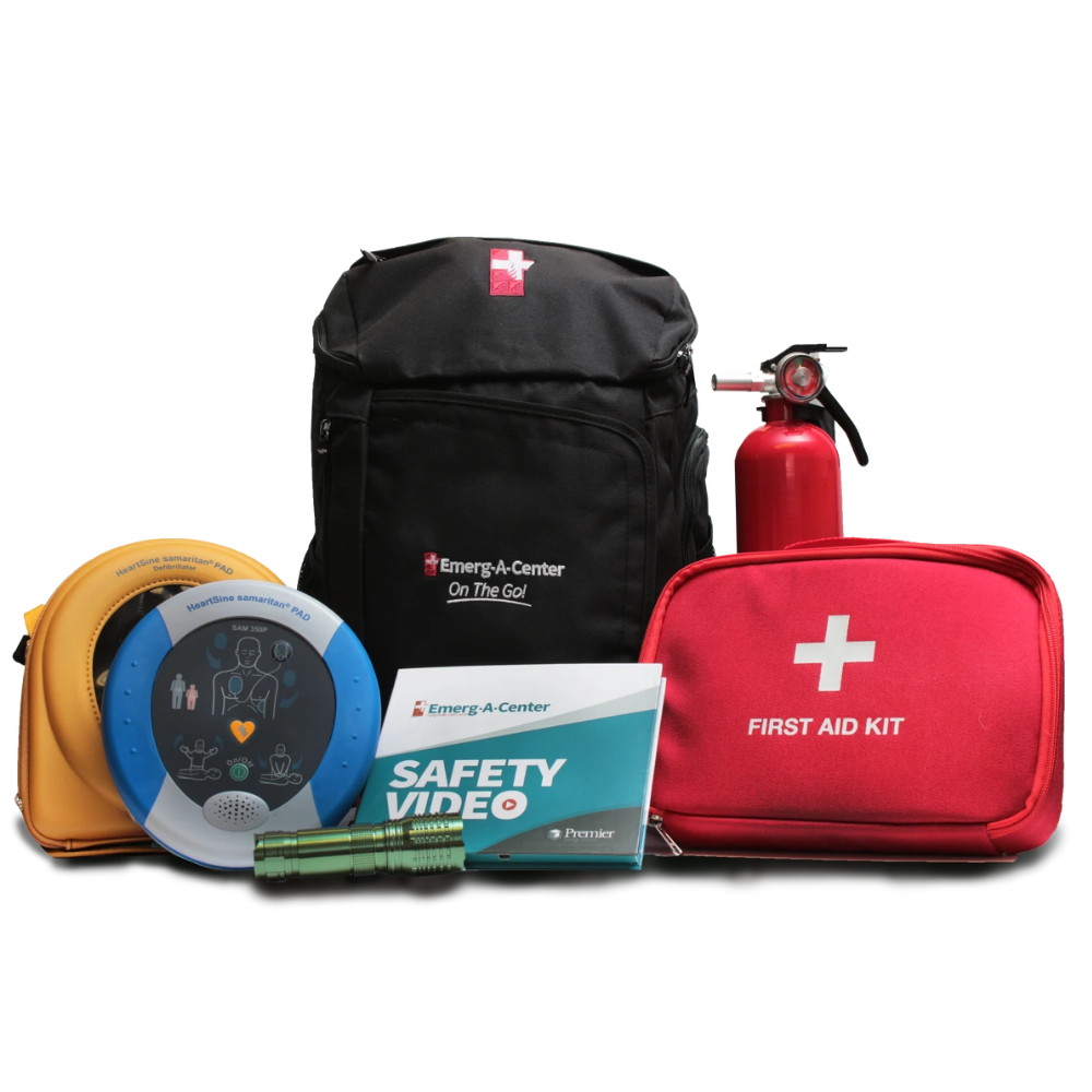 AED and First Aid Safety Mobile Bag
