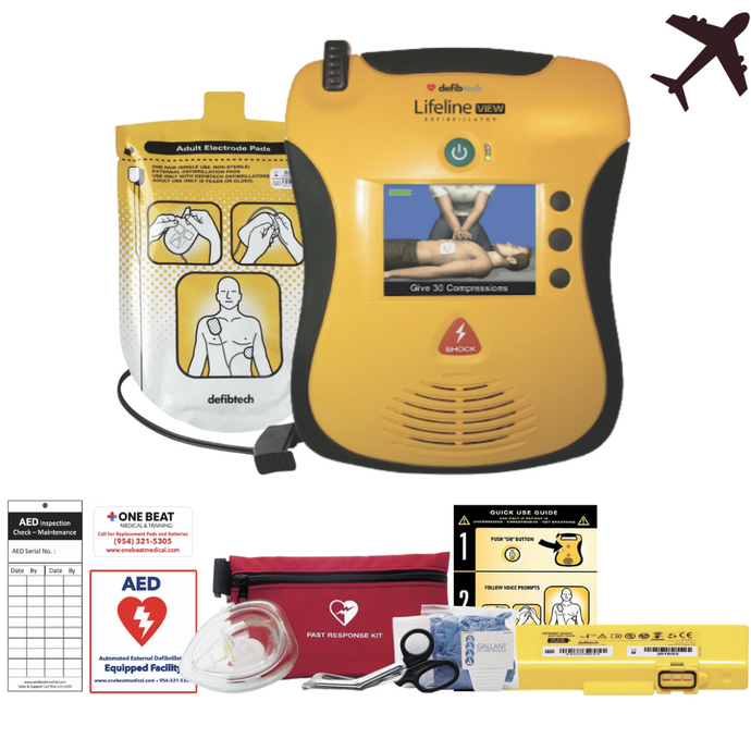 DCF-A2313EN defibtech lifeline view aed aviation package