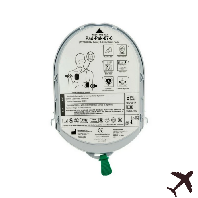 HeartSine Adult Pad-Pak with TSO-C142a (Aviation) 11516-000027