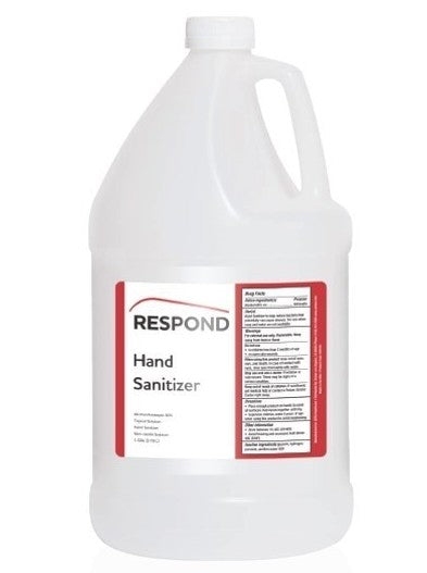 RESPOND Liquid Hand Sanitizer, 1 Cs/4 Gal