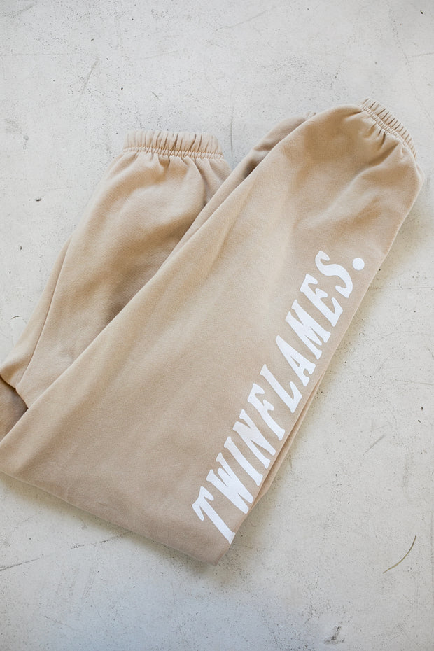 TWO SOULS BEIGE SWEATPANTS