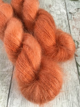 Load image into Gallery viewer, Fluff Kidsilk Mohair - Lace - Cinnamon Orange