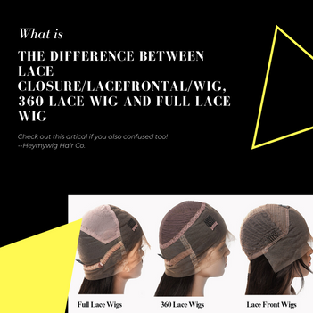 What's The Difference Among Lace Closure Wig, Lace Frontal Wig, 360 Lace Wig And Full Lace Wig?